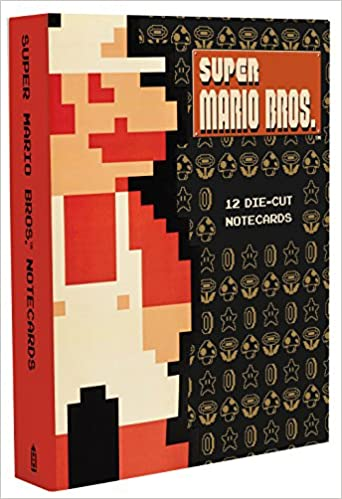 super mario bros 12 die cut notecards