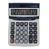 ZHAS Solar Calculator, Dual Power Desktop Calculator, 12 Digits For Office, Shop, School