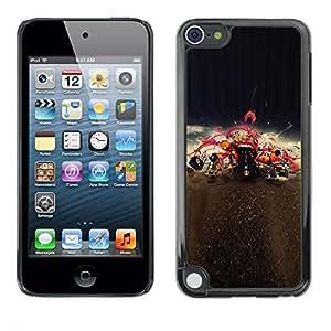 PC/Aluminum Funda Carcasa protectora para Apple iPod Touch 5 Mouth Red Lips Kiss Music Love Concert / JUSTGO PHONE PROTECTOR