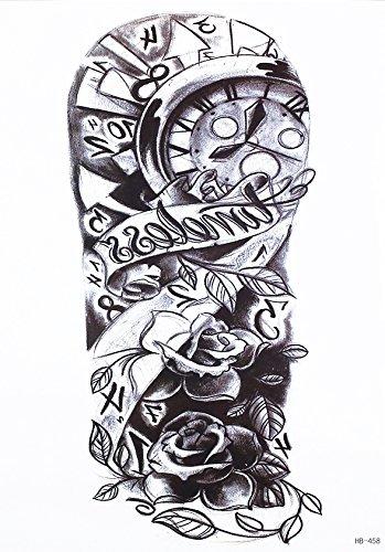 Reloj Tattoo Rosas Y Pulsera Brazo Tatuaje Pegatinas Hb458 Amazon