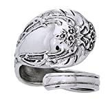 Ornate Sterling Silver Adjustable Spoon Ring Size 8(Sizes 4,5,6,7,8,9,10,11,12) Reviews
