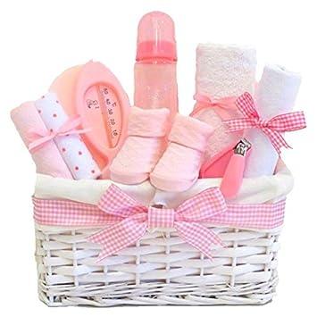 aae5d0b35ad1e Lola Newborn Baby Girl Gift Basket Hamper Pink   FAST DISPATCH   Amazon.co.uk  Baby
