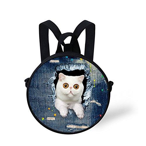Shoulder Handbag Print Nyeca4911i Round FancyPrint Round Bag Cute Animals aWYpUIqO