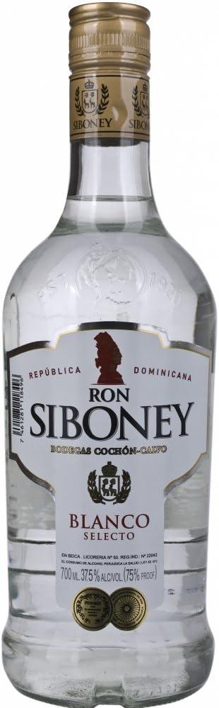 Siboney Blanco Selecto White Rum - 700 ml: Amazon.es ...