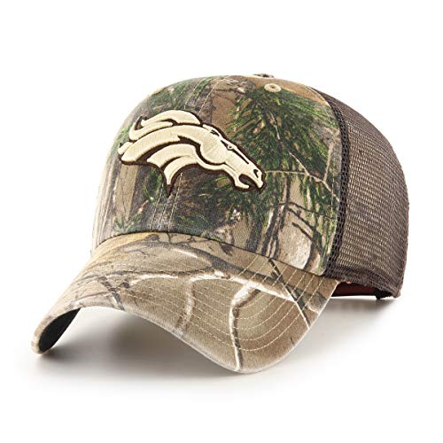 (NFL Denver Broncos Men's Ledgewood Realtree OTS Challenger Adjustable Hat, Team Color, One Size)