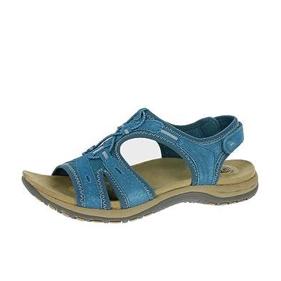 105cf8bf4085 Earth Spirit Columbia Ladies Leather Open Toe Sandals Turquoise UK 9 ...