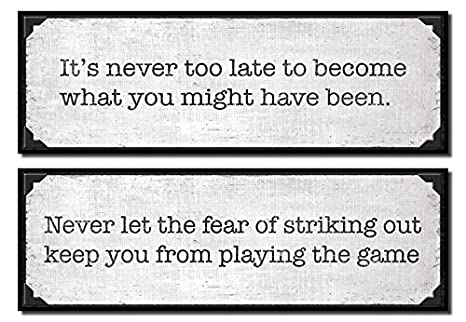 Amazon Inspirational 'Playing The Game' And 'Never Too Late Classy Late Quotes
