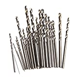 BCHZ New 28Pcs Micro HSS Twist Drill Bits Set Metric Sizes 0.3-3.0mm For PCB Crafts