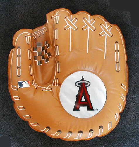California Angels Inflatable Pillow is shaped like a Baseball Mitt