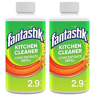Fantastik Kitchen Cleaner Concentrate, Concentrated Refill Bottles, 2.9 Fl Oz- Pack of 2