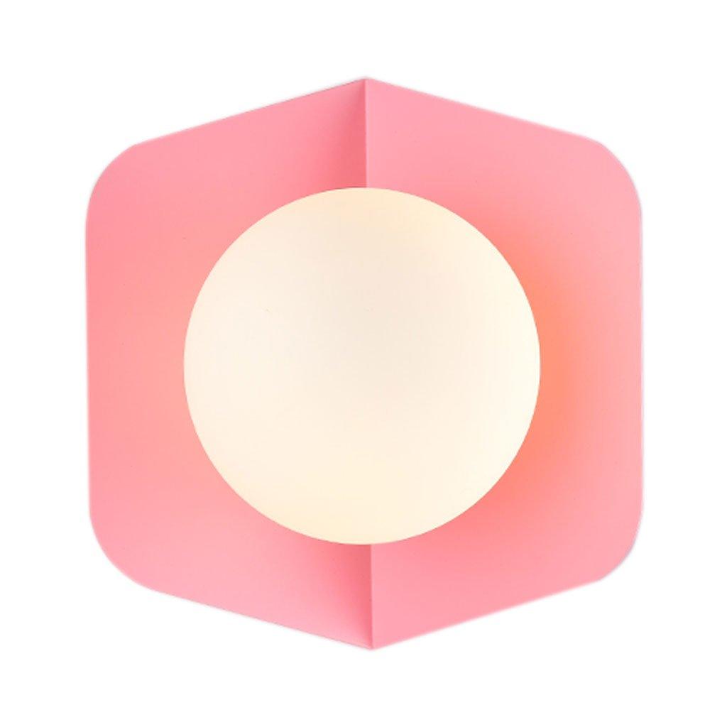 Unbekannt HUYP Wandleuchte Moderne minimalistische kreative LED Lampe Schlafzimmer Wohnzimmer Gangbeleuchtung (Farbe   Rosa)