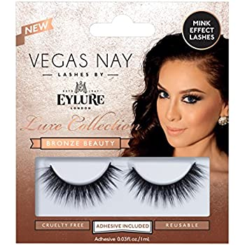 136fd984afc Eylure Vegas Nay Bronze Beauty False Eyelashes, Reusable, Adhesive  Included, 1 Pair, Cruelty Free
