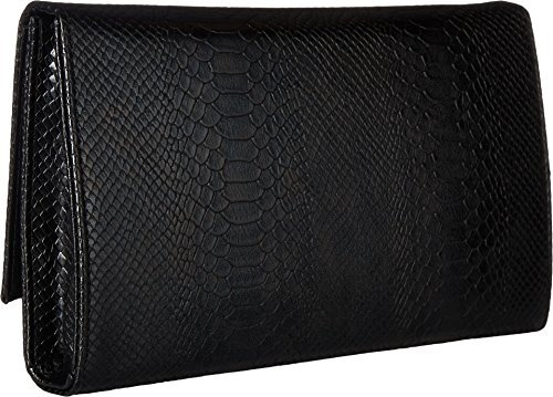 Jessica Large Black McClintock Snake Nora Envelope Metallic Womens Clutch rPnrxBqZCw