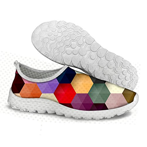 Shoes Print Mesh Glitter Women Slip U A2 Stylish Multi On DESIGNS Walking FOR Comfortable Plaid For Running cnFz7zHW