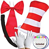Child's DELUXE CAT IN THE HAT COMPLETE 5 PIECE SET World Book Day Week Crazy Cat Fancy Dress costume