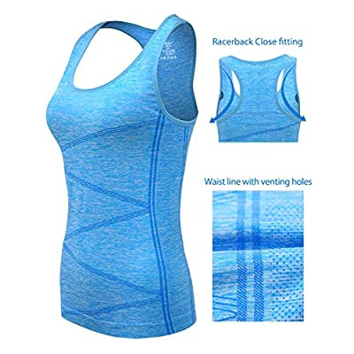 Amazon.com : DISBEST Yoga Tank Top, Women's Performance Stretchy Quick Dry Sports Workout Running Top Vest with Removable Pads : Clothing