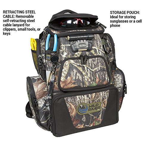 084298636042 - Wild River Tackle Tek Nomad Mossy Oak Camo LED Lighted Backpack, Fishing Bag, Hunting Backpack carousel main 2