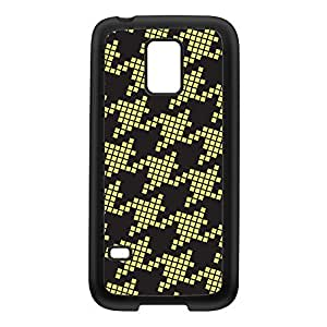 Dogtooth Black Silicon Rubber Case for Galaxy S5 Mini by Gadget Glamour + FREE Crystal Clear Screen Protector