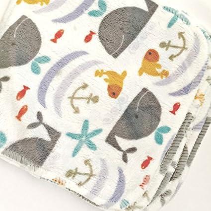 Bambú y Minky paño lavable reutilizable bebé Toallitas manos & Faces (Pack de 25)