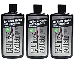 Flitz LQ 04535-3A-3PK Metal, Plastic and Fiberglass Liquid Polish, 3.4 oz. Bottle, 3-Pack