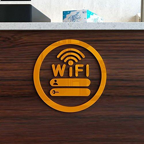 Hongrun El Icono de WiFi acrílico Cristal de Pared-Dulce de Leche Tea Shop Paredes están Decoradas de una Forma Creativa Carteles 250 * 250 mm: Amazon.es: ...