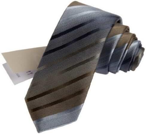 CID-039 Stripes Multi-Color Silk Skinny Tie By Y&G