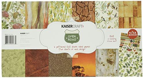 """Kaisercraft Open Road Paper Pack 12""""X12"""" 12/Pkg from Kaisercraft"""