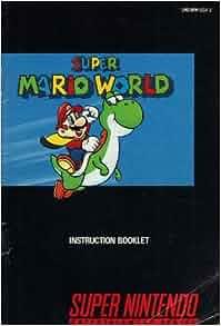 Super Mario World Snes Instruction Booklet Super Nintendo