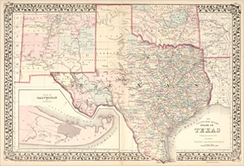 Map Of Texas By County.Striking 1876 Texas County Map Forts Trails Rails 18 X24 Pete