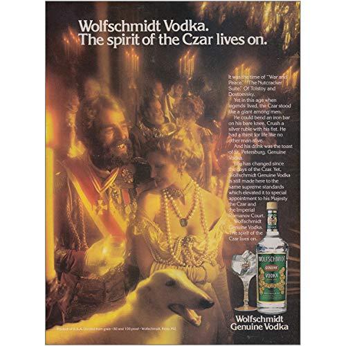 - RelicPaper 1979 Wolfschmidt Vodka: Spirit of The Czar Lives On, Wolfschmidt Vodka Print Ad