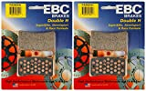 EBC Double-H Sintered Metal Brake Pads FA252HH (2 Packs - Enough for 2 Rotors)