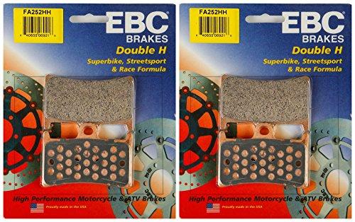 EBC Double-H Sintered Metal Brake Pads FA252HH (2 Packs - Enough for 2 Rotors) by EBC Brakes