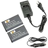 DSTE 2-pacco Ricambio Batteria + DC134E Caricabatteria per Sony NP-BX1Cyber-shot CX240HDR-PJ10E CX240E DSC RX10II RX1B DSC-RX1R DSC-RX1DSC-RX1R/B DSC-RX100DSC-RX100II DSC-RX100III