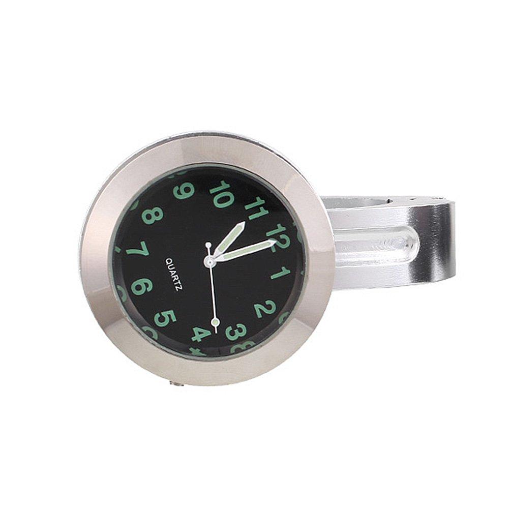 Sedeta Moto Guidon Mont Cadran Horloge Montre Avec Universal Boucle é tanche Alliage d'aluminium Verre Argent / Noir