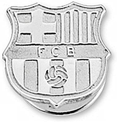 Pin escudo F.C. Barcelona Plata de ley liso [6918] - Modelo: 10 ...