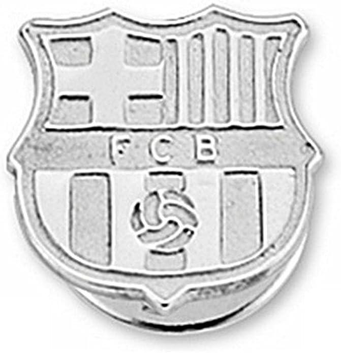 Pin escudo F.C. Barcelona Plata de ley liso [6918] - Modelo: 10-061-L: Amazon.es: Joyería