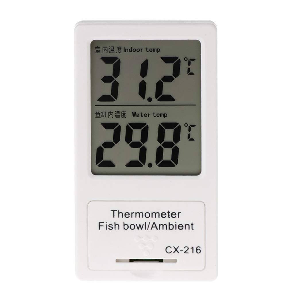 LANDUM Temperatura de Digitaces de la exhibición del LCD del termómetro del Acuario Agua Interior del Acuario: Amazon.es: Hogar