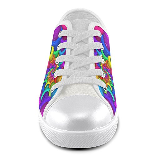 Model007 Artsadd Psychedelic Rainbow Spiral Kids Canvas Shoes