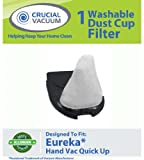 Eureka Quick Up Washable and Reusable Dust Cup DCF-11 Filter 62558A; Fits Eureka Quick Up Vacuum Cleaner Models: 61, 70, 71, 61A, 70A, 70AX, 71A, 71AV, 71B, AG61A, UK61A, Z61A; Compare to Eureka Part # 39657; Designed and Engineered By Crucial Vacuum