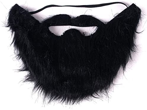 Black Funny Costume Party Halloween Fake Beard Moustache Mustache Facial Hair