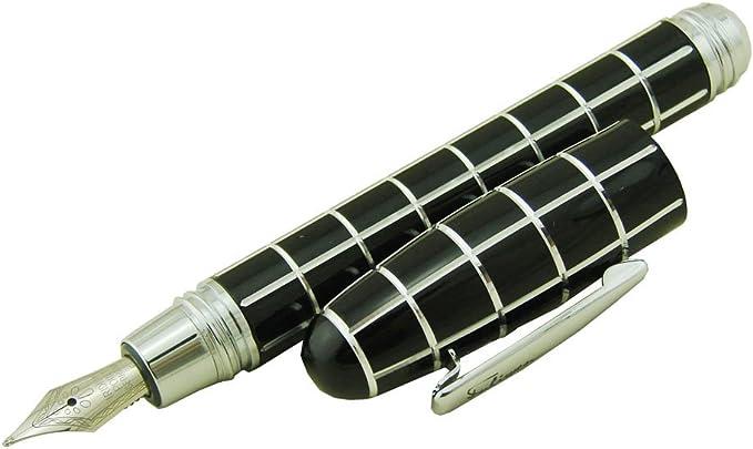 Fashion Style Stylo plume en r/ésine noir erofa fuliwen carr/é Motif cadeau stylo