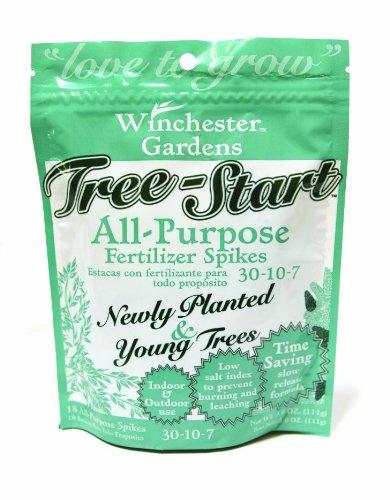 Winchester Gardens Tree-Start Fertilizer Spikes with Low Salt Index, 18 Spikes/Pack