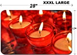 Liili Large Table Mat Non-Slip Natural Rubber Desk Pads IMAGE ID: 21694859 candles in catholic church