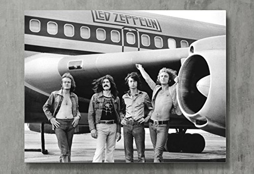 "Led Zeppelin Poster - Zeppelin Canvas Print Classic Rock Wall Art Posters Print Standard Size 18""x24"" Inches"