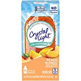 Crystal Light Peach Mango Drink Mix With Caffeine, 0.07 Oz, Pack of 6