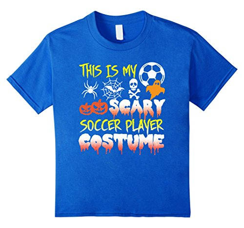 Soccer Player Halloween Costume For Girls (Kids This Is My Scary Soccer Player Costume Halloween T-Shirt 12 Royal Blue)