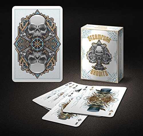 Steampunk Bandits Playing Cards White Edition Bicycle Branded Limited Edition Single Print Run 2500 Decks RARE by Bicycle 3