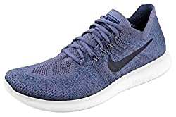 Nike Free Rn Flyknit 2017 Sz 12 Mens Running Light Carbonobsidian-ocean Fog Shoes