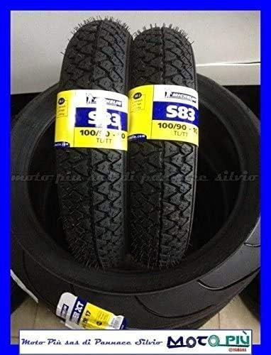 1 Paar Reifen Michelin S83 100 90 10 56j Für Piaggio Vespa Cosa Ape 50 Auto
