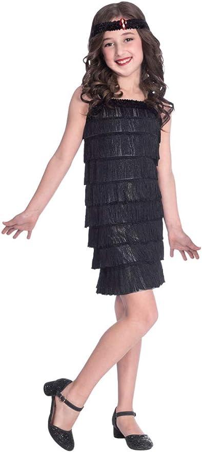 1920s Children Fashions: Girls, Boys, Baby Costumes amscan 9905734 Black Flapper Dress Costume Set 6-8 Years-2 Pcs £4.28 AT vintagedancer.com